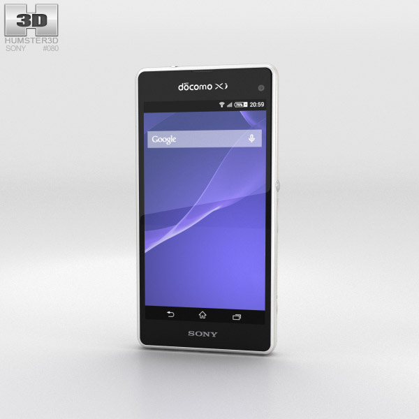 Sony Xperia A2 SO-04F White 3d model