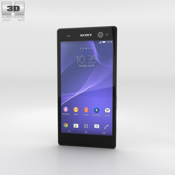 Sony Xperia C3 Mint 3d model