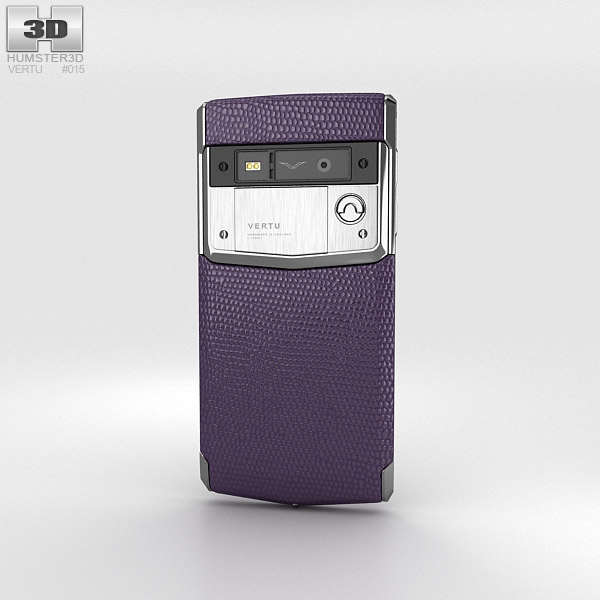Vertu Signature Touch Damson Lizard 3d model