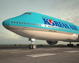 Boeing 747-8I Korean Air 3D model
