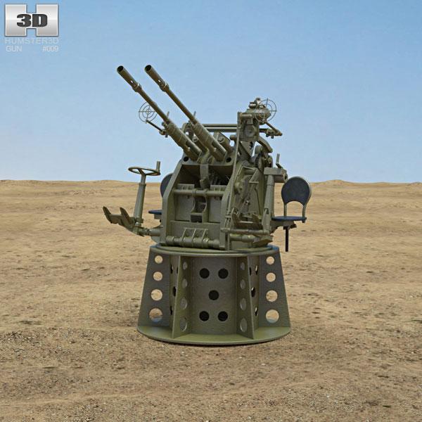 3d Gun Image 3d Home Architect: Type 96 25 Mm AA Gun 3D Model