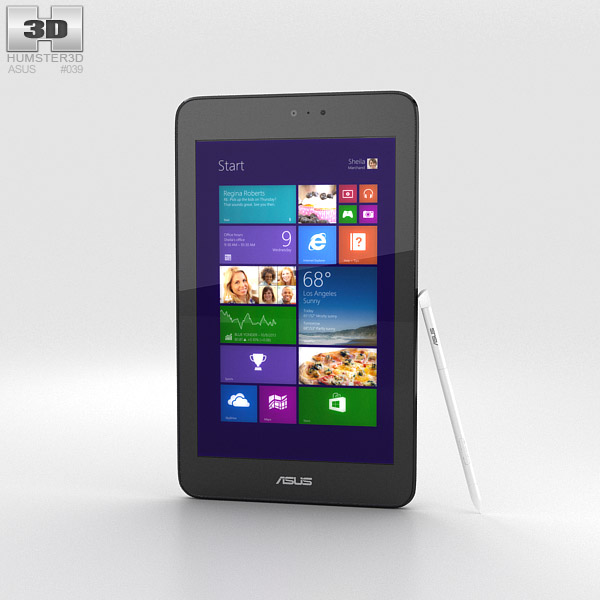Asus VivoTab Note 8 White 3d model