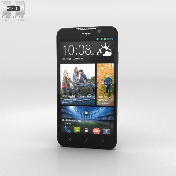 HTC Desire 516 Black 3d model