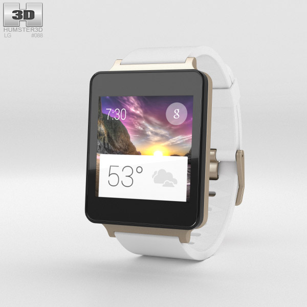 LG G Watch White Gold 3d model