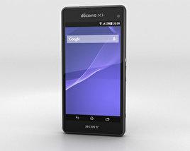 Sony Xperia A2 SO-04F Black 3D model
