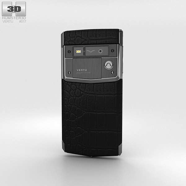 Vertu Signature Touch Jet Alligator 3d model