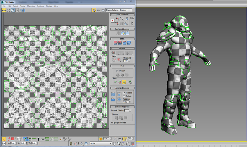 Creating game character