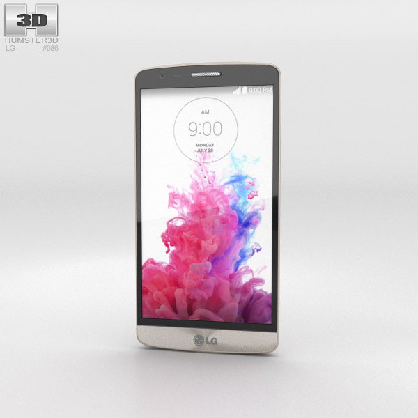 LG G3 S Shine Gold 3d model