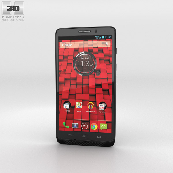 Motorola Droid Ultra Black 3d model