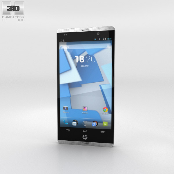 HP Slate 6 VoiceTab Snow White 3d model
