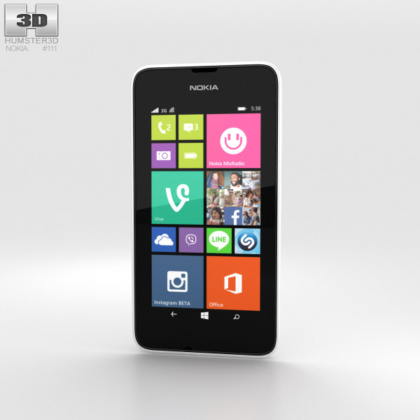 Nokia Lumia 530 White 3d model