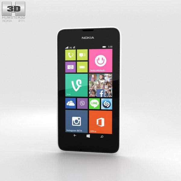 Nokia Lumia 530 White 3d model