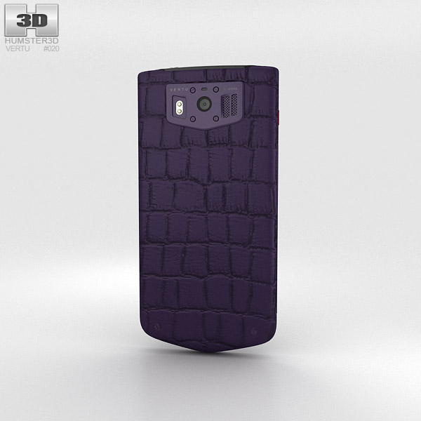 Vertu Constellation 2013 Pure Plum Alligator 3d model