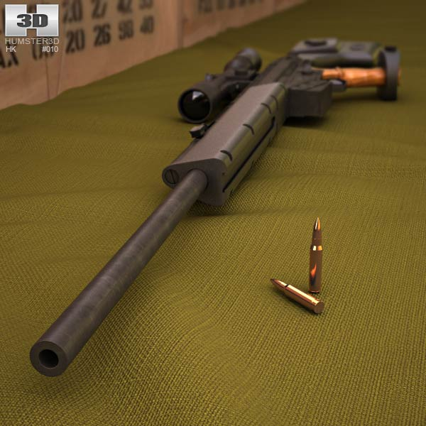 Heckler & Koch PSG1 3d model