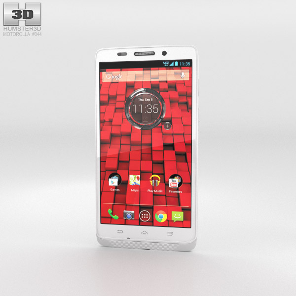 Motorola Droid Ultra White 3d model