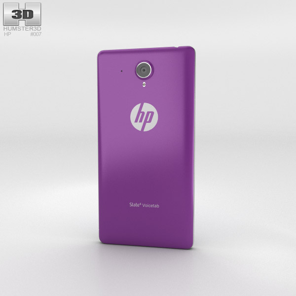HP Slate 6 VoiceTab Neon Purple 3d model