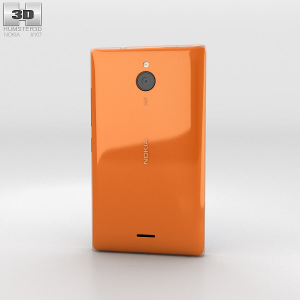 Nokia X2 Glossy Orange 3d model