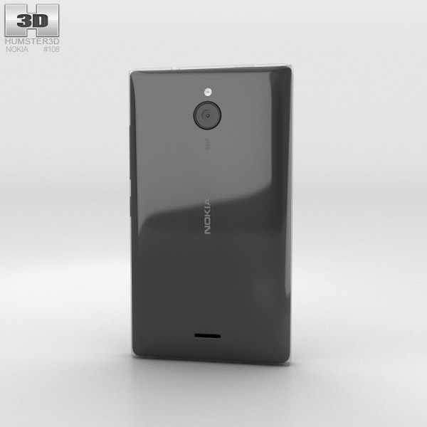 Nokia X2 Black 3d model