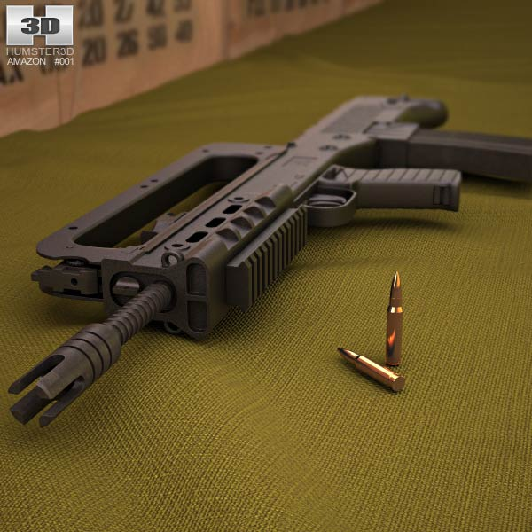 HS VHS assault rifle 3d model
