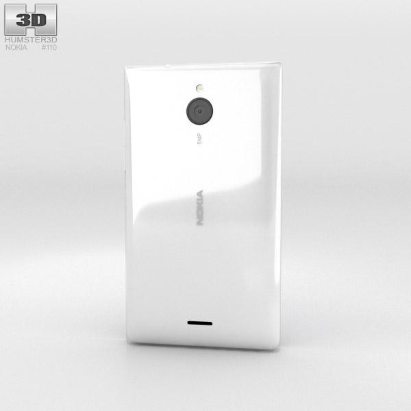 Nokia X2 White 3d model