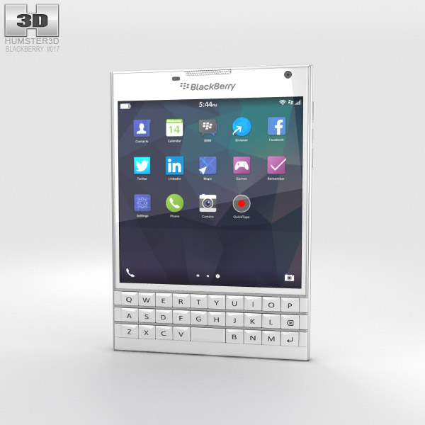 BlackBerry Passport White 3d model