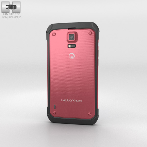 Samsung Galaxy S5 Active Ruby Red 3d model