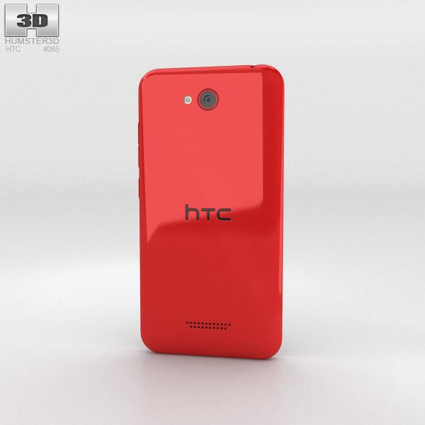 HTC Desire 616 Red 3d model