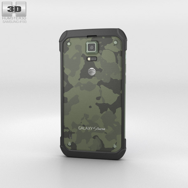 Samsung Galaxy S5 Active Camo Green 3d model