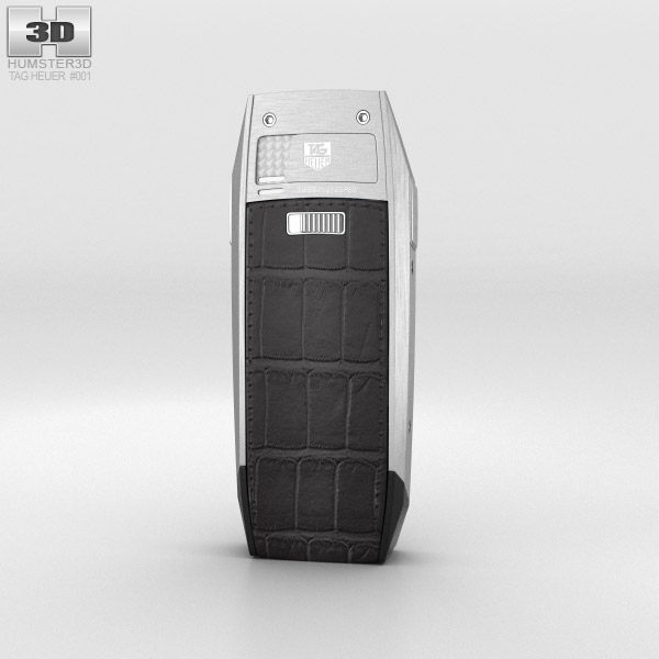 TAG Heuer Meridiist Stainless Steel Black Alligator 3d model
