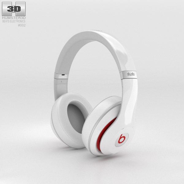 Beats by Dr. Dre Studio Over-Ear Headphones White 3d model