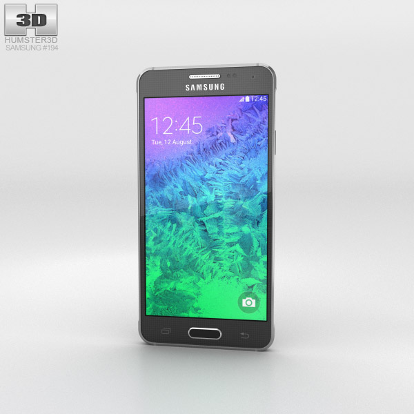 Samsung Galaxy Alpha Charcoal Black 3d model