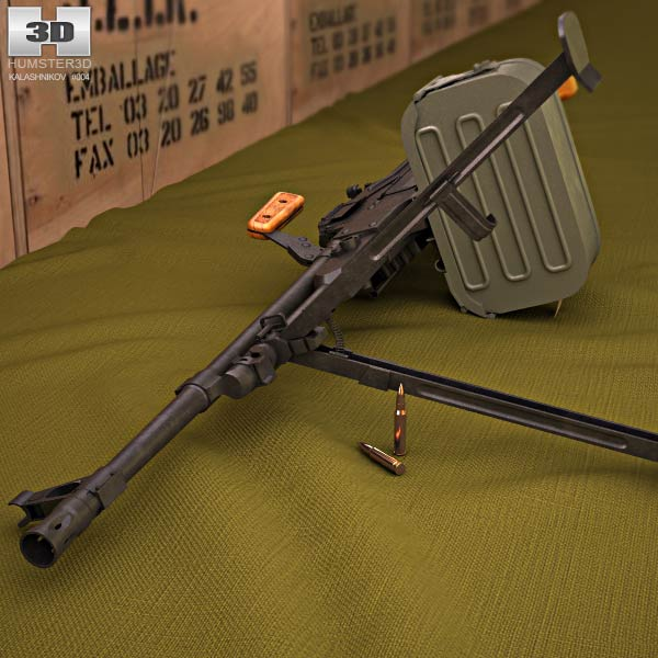 PK machine gun 3d model