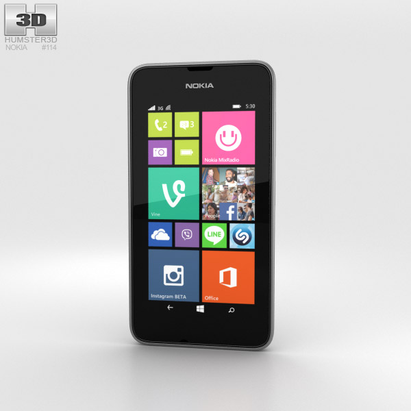 Nokia Lumia 530 Dark Grey 3d model