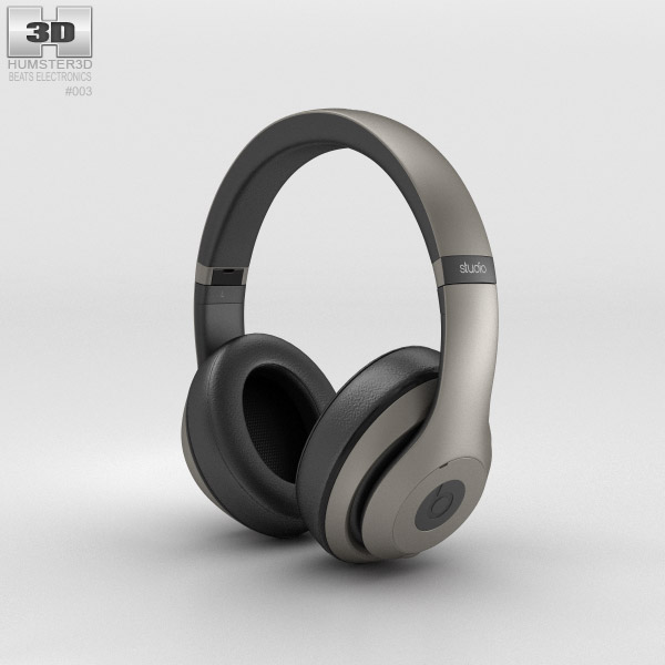 Beats by Dr. Dre Studio Over-Ear Headphones Titanium 3d model