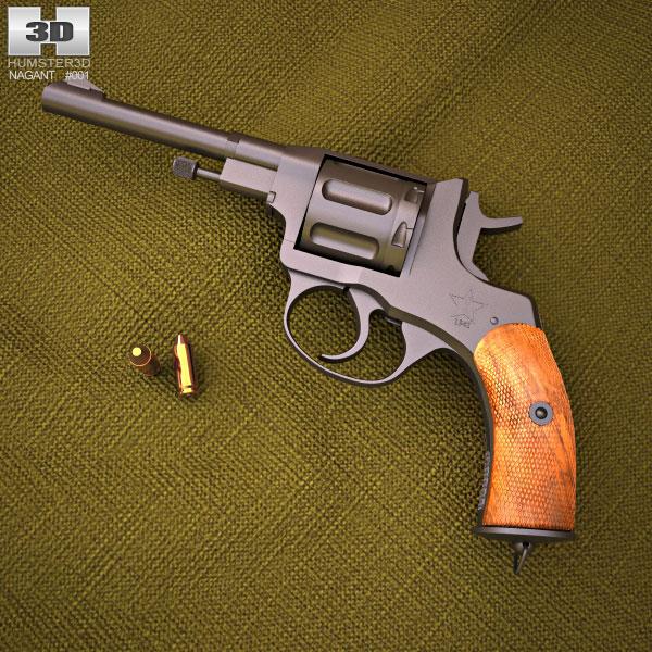 Nagant M1895 3d model