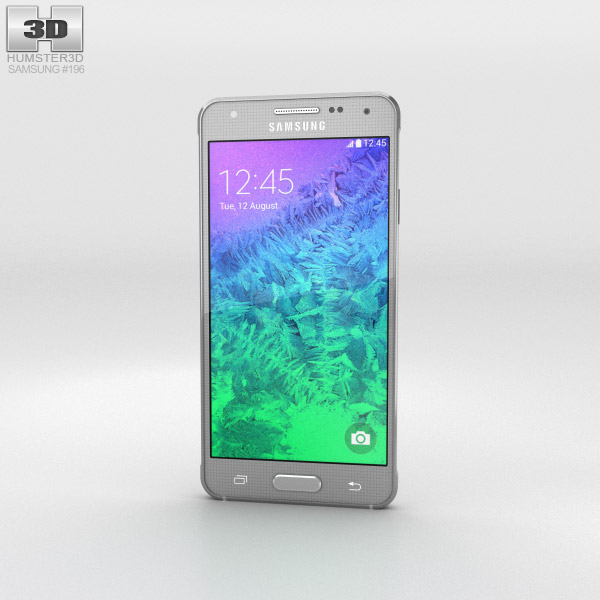 Samsung Galaxy Alpha Sleek Silver 3d model