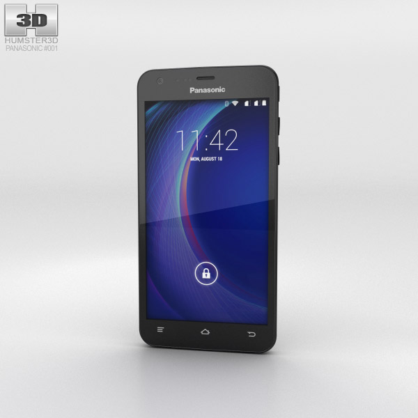 Panasonic Eluga U Black 3d model