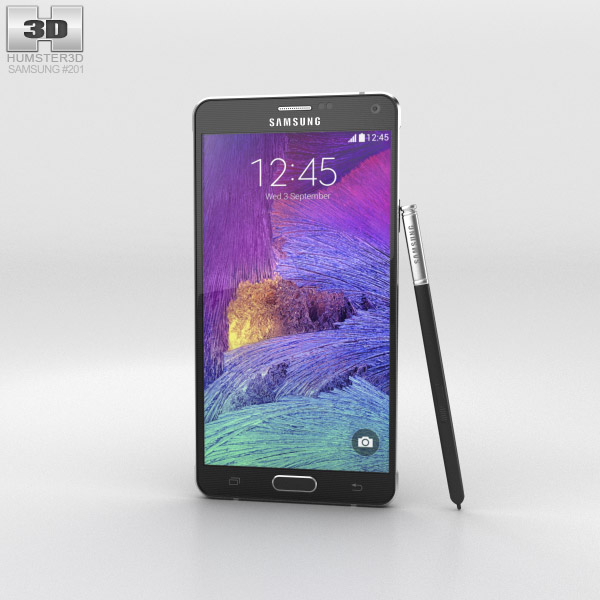 Samsung Galaxy Note 4 Charcoal Black 3d model