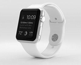 Apple Watch Sport 42mm Silver Aluminum Case White Sport Band 3D model