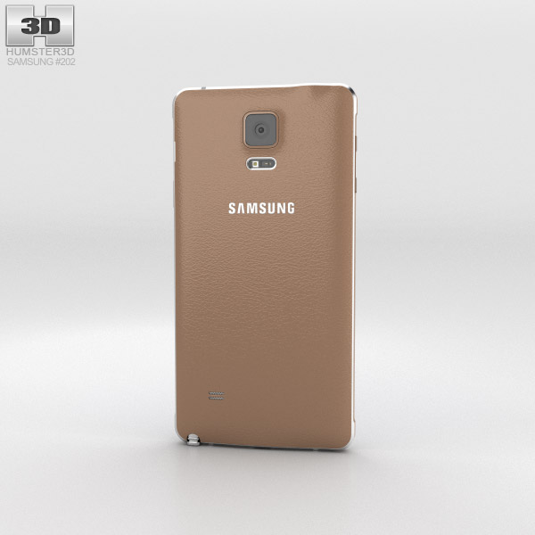 Samsung Galaxy Note 4 Bronze Gold 3d model