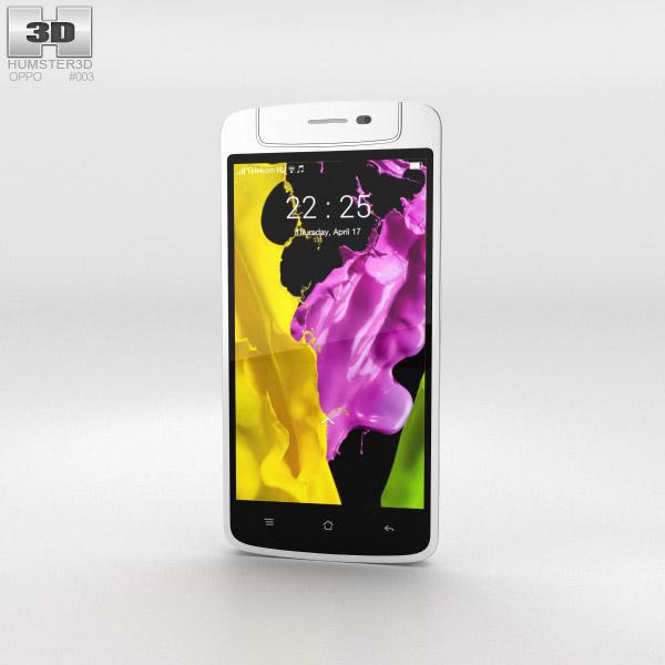 Oppo N1 mini White 3d model