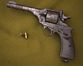 Webley-Fosbery Automatic Revolver 3D model