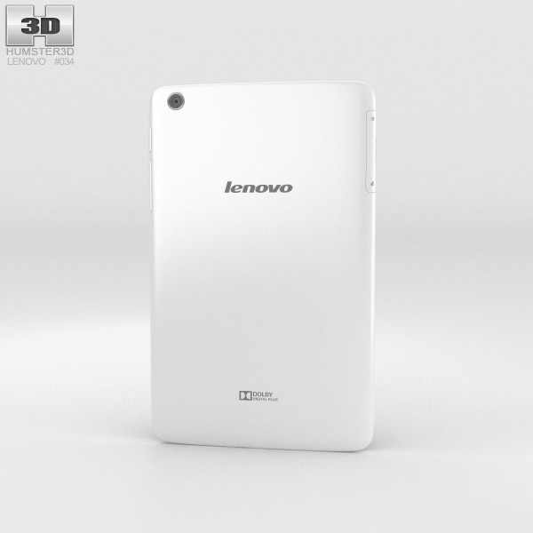 Lenovo Tab A8 White 3d model