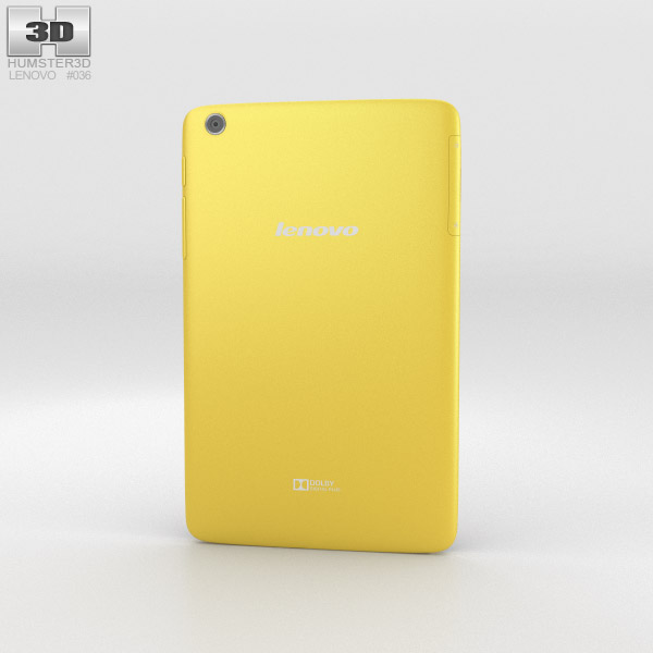 Lenovo Tab A8 Yellow 3d model