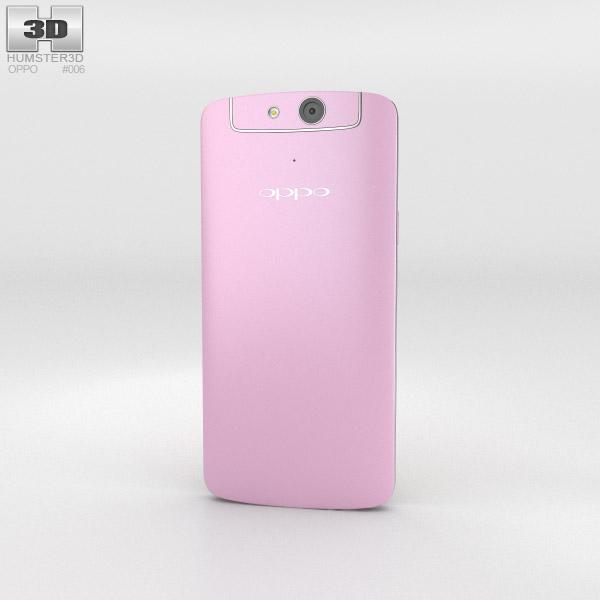 Oppo N1 mini Pink 3d model