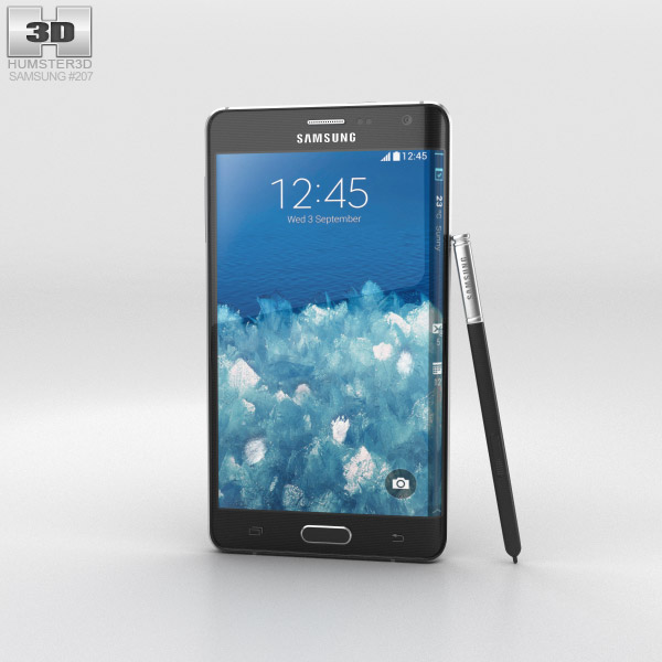 Samsung Galaxy Note Edge Charcoal Black 3d model