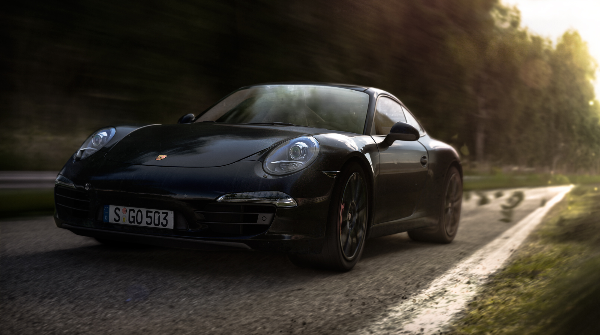 Porsche Carrera S - Black