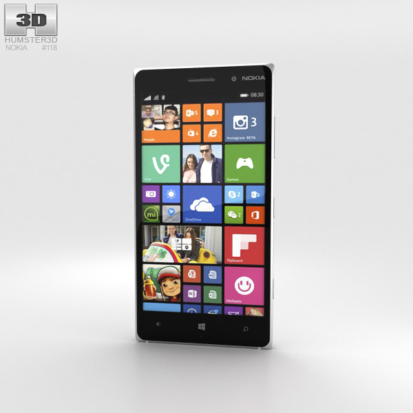 Nokia Lumia 830 White 3d model