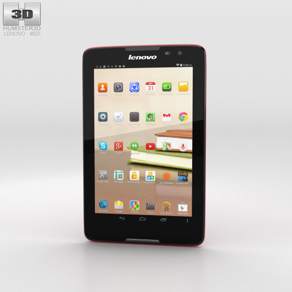 Lenovo Tab A8 Red 3d model