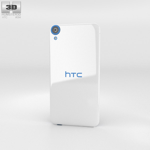 HTC Desire 820 Santorini White 3d model